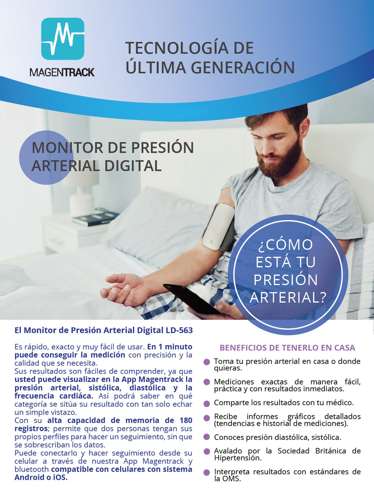 Monitor de presión arterial digital